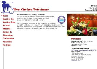West+Chelsea+Veterinary+Hospital Website