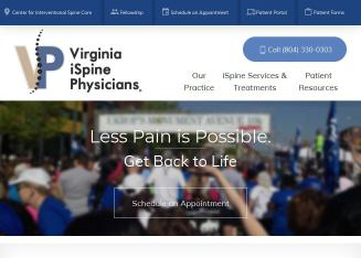 Virginia+iSpine+Physicians-+Michael+DePalma%2C+MD Website