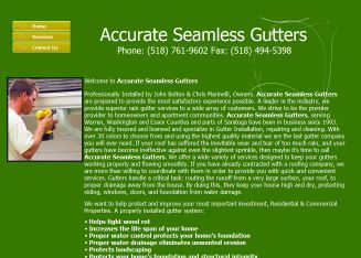 Accurate+Seamless+Gutters Website