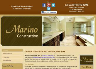 Marino+Construction%2C+Inc. Website