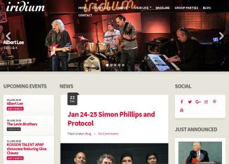 Iridium+Jazz+Club Website