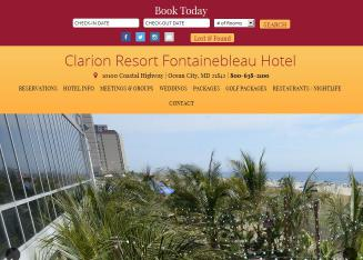 Clarion+Resort+Fontainebleau+Hotel Website