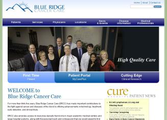 Blue+Ridge+Cancer+Care Website