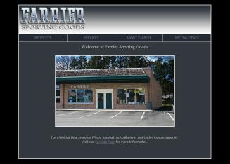 Farrier+Sporting+Goods Website
