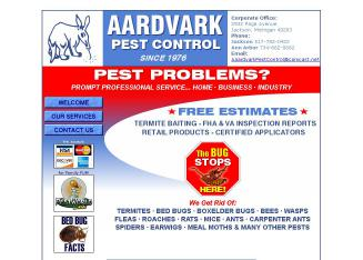 Aardvark+Pest+Control Website