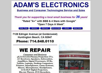 Adam%27s+Electronics Website