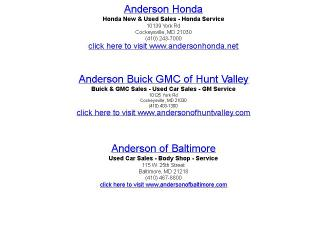 Anderson+Automotive+Downtown+Service Website