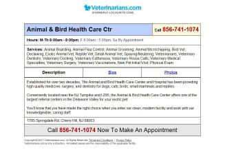Animal & Bird Health Care Center & Hospital