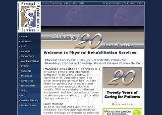 Physical+Rehabilitation+Services Website