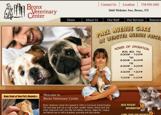 Bronx++Veterinary+Center Website