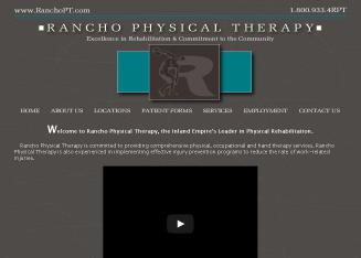 Rancho+Physical+Therapy Website