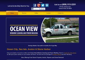 Ocean+View+Window+Cleaning+%26+Power+Washing Website