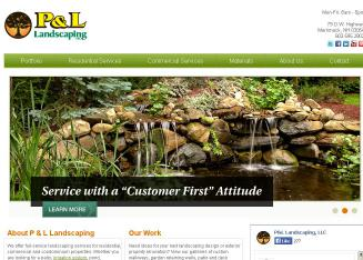 P+%26+L+Landscaping+LLC+%26+Material+Center Website