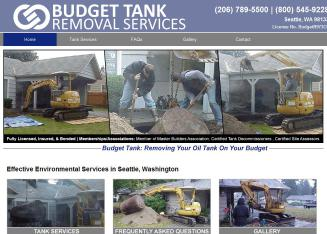 Budget+Tank+Removal+Services Website