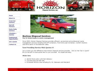 Horizon+Disposal+Service+Inc Website