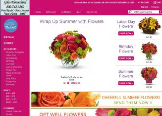 Giles-Flowerland+%26+Caterers Website
