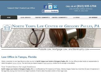 North+Tampa+Law+Center+of+Gregory+Paules+PA Website