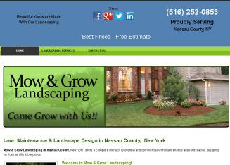 Mow+%26+Grow+Landscaping Website