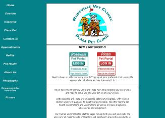 Roseville+Veterinary+Clinic Website