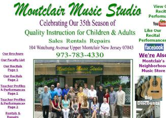 Montclair+Music+Studio Website