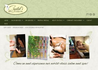 Crystal%27s+Spa+%26+Salon Website