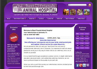 Best+Friends+Animal+Hospital Website