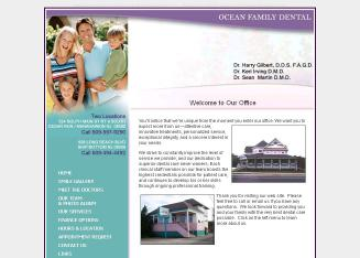 Ocean+Family+Dental Website