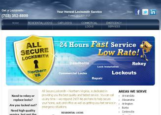 All+Secure+Locksmith Website