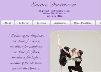 Encore+Dancewear Website