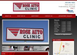 Rose Auto Repair on Rose Auto Clinic In Fredericksburg  Va   4610 Lassen Ln