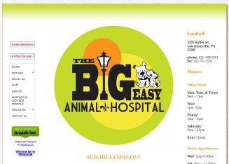 The+Big+Easy+Animal+Hospital Website