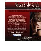 Shear+Style+Salon+%26+Spa Website