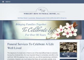 Wright-Roy+Funeral+Home Website
