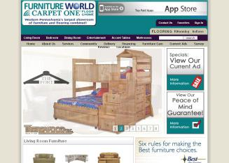 Furniture+World+Carpet+One Website