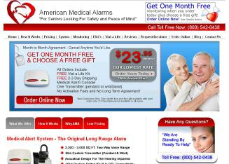 American+Medical+Alarms Website
