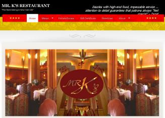 Mr.+K%27s+Restaurant Website