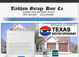 Tinkham+Garage+Door+CO Website