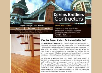 Cozens+Brothers+Contractors Website