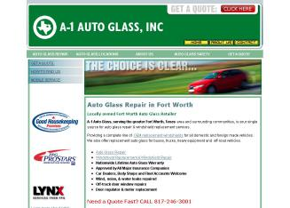 A-1+Auto+Glass Website