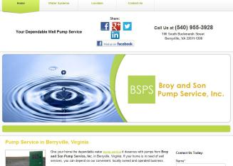 Broy+%26+Son+Pump+Service+Inc Website