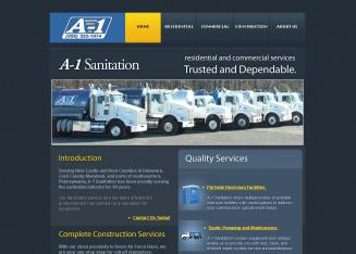 A-1+Sanitation+Service Website