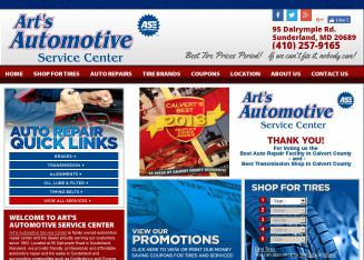 Art%27s+Automotive Website