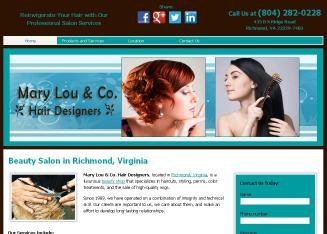 Mary+Lou+%26+CO+Hair+Designers Website
