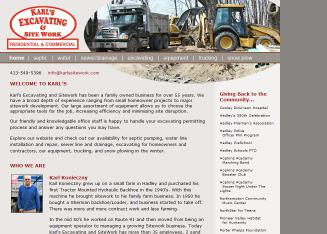 Karl%27s+Excavating Website