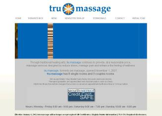 Tru+Massage Website