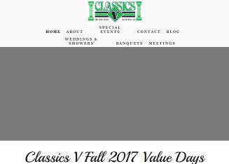 Classics+V+Banquet+%26+Conference+Center Website