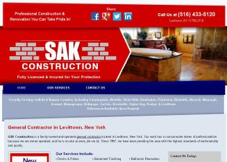 S+A+K+Construction Website
