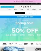 Pac+Sun Website