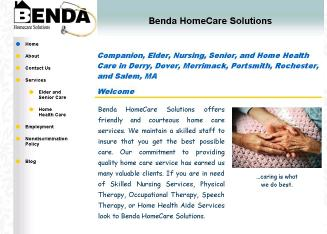Benda+HomeCare+Solutions Website