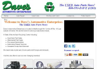 Dave%27s+Automotive+Enterprises Website